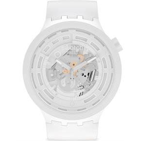 Swatch Sb03w100 C-WHITE Big Bold Ceramic Saat